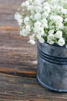 buquê de flores brancas de bebê foto