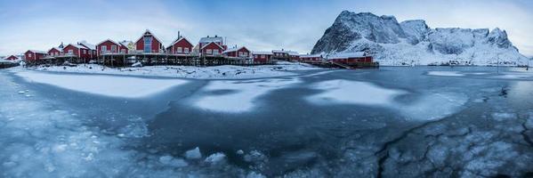 Ilha de Lofoten no inverno