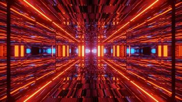 fundo de ilustração 3d vermelho futurista foto
