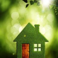 Eco Village, fundos ambientais abstratos para seu projeto