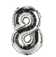 parte da fonte do balão cromado do conjunto completo de números, 8 foto