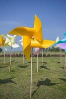 conceito de moinho de vento de brinquedo foto