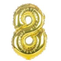 fonte balão de ouro parte do conjunto completo de números, 8 foto