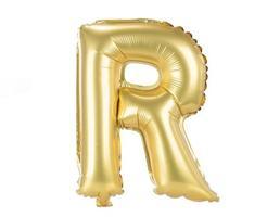 letras maiúsculas de fonte balão de ouro, r foto