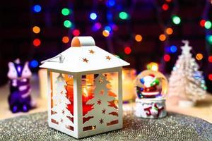 decoração de natal e cúpula de neve de natal