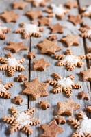 fundo de biscoitos de natal