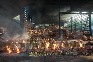 queima de arroz de bambu na culinária tradicional