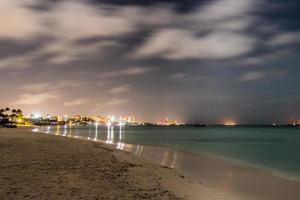 foto noturna do horizonte