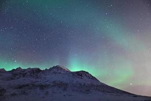aurora boreal na Lapônia (aurora boreal) foto