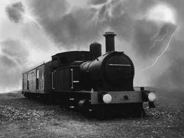velha locomotiva de trem foto
