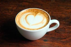 xícara de cappuccino foto