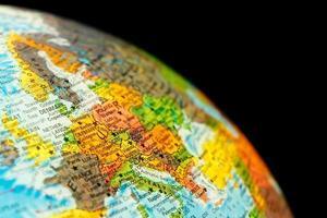 mapa da Alemanha. imagem de close-up
