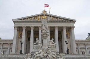 parlamento austríaco em viena - áustria foto
