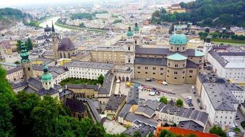 cenário da cidade velha de Salzburg