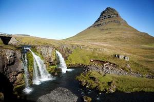 Cachoeira Kirkjufellfoss - Península Snaefellsnes, Islândia Ocidental foto