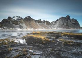 Vestrahorn mais bela montanha da Islândia foto