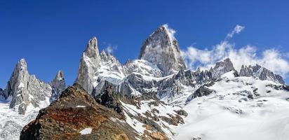 cordilheira fitz roy na patagônia, argentina foto