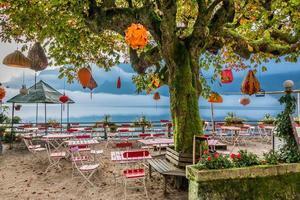 restaurante chinês no lago hallstatt foto