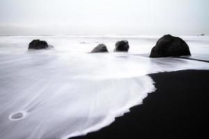 Islândia preto e branco foto