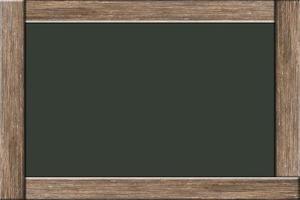 quadro-negro com moldura de madeira