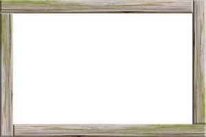 moldura de madeira em fundo branco foto