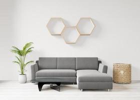sala de estar interior 3D mínima