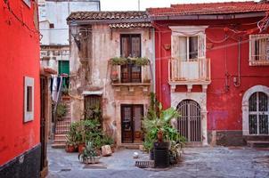 praça na cidade velha de Siracusa, Sicília, Itália