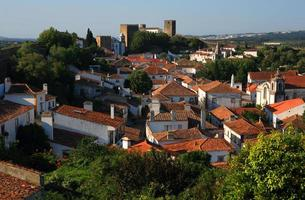 portugal, obidos, pitoresca vila medieval.