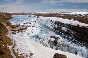 gullfoss, islândia foto