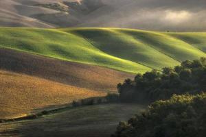 toscana - panorama da paisagem, colinas e prados, toscana - itália