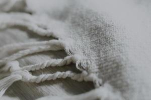 close-up de tecido branco foto