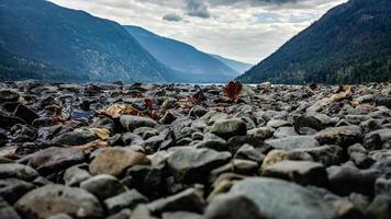 rochas perto de montanhas foto