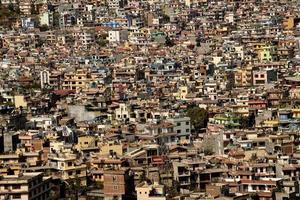 cena da cidade lotada foto