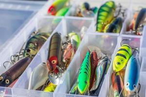 conjunto de iscas de pesca foto