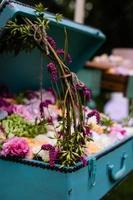 caixa de flores foto