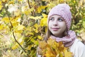 retrato no parque outono
