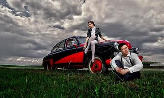 casal vintage. foto