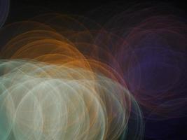 os contornos do círculo de luz em verde claro, dourado e roxo foto