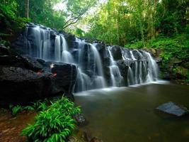 fundo suave da cachoeira