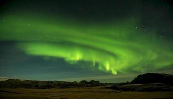 a aurora boreal na Islândia