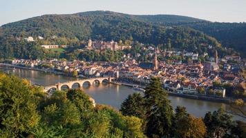 vista da cidade velha de heidelberg, alemanha foto