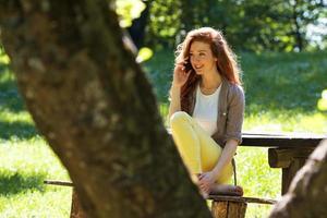 relaxando no parque