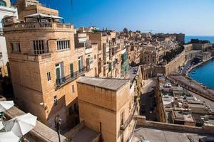 edifícios em valletta, malta