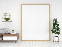 fundo renderizado 3d do interior da sala de estar