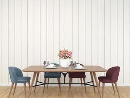 fundo renderizado 3d da sala de jantar