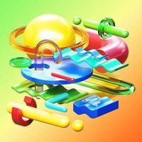 Composição de renderização 3D foto