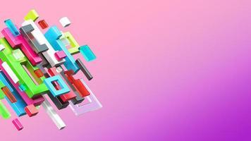 Composições de renderização de objetos 3D foto