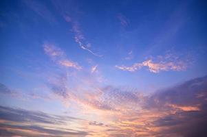 céu colorido por do sol foto