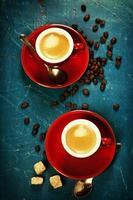 composição do café foto
