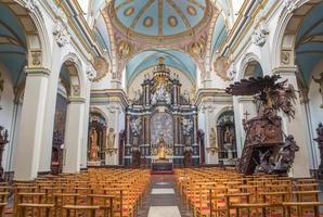 bruges - a nave de karmelietenkerk (igreja carmelitas)